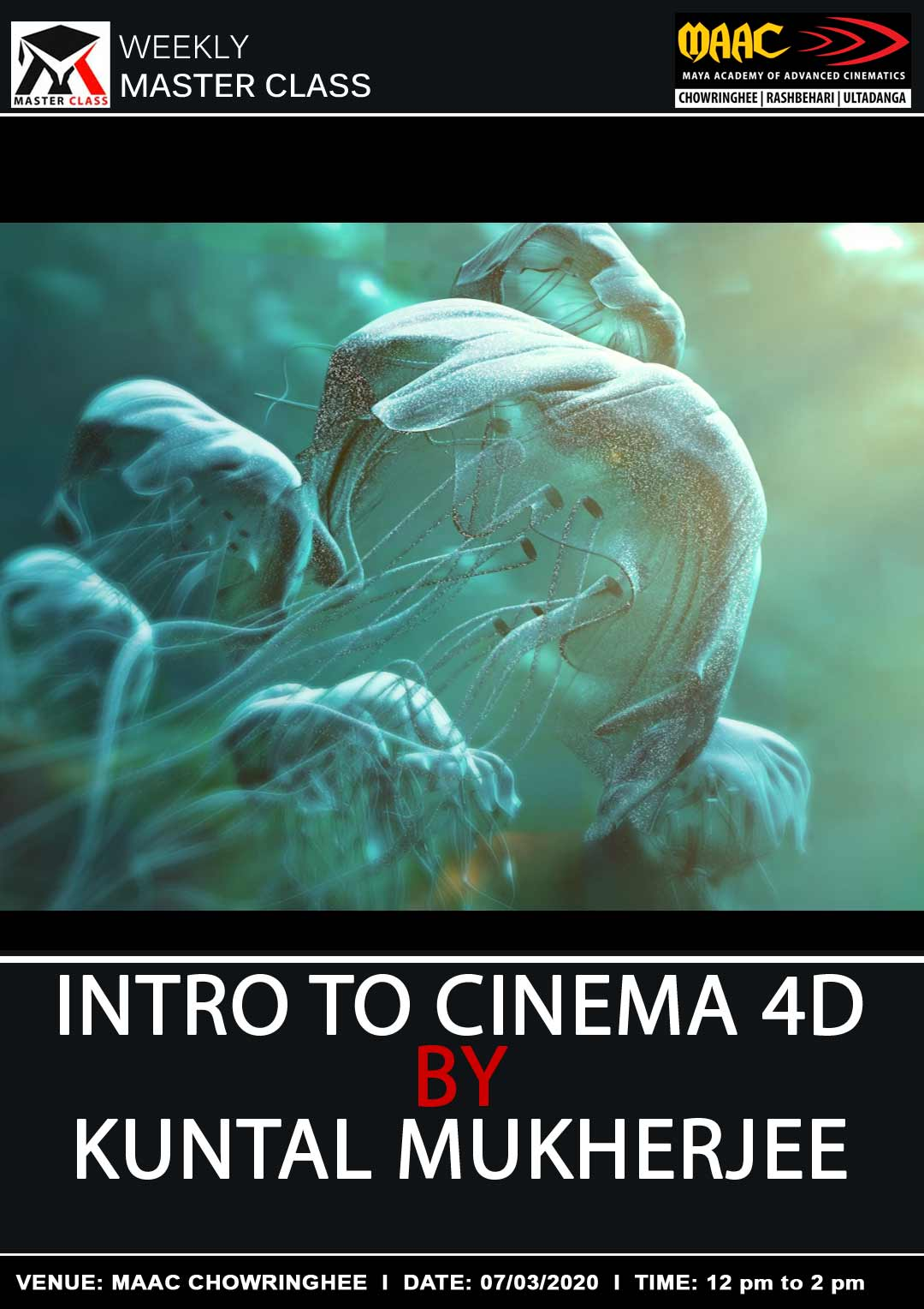 Weekly Master Class on Intro To Cinema 4D