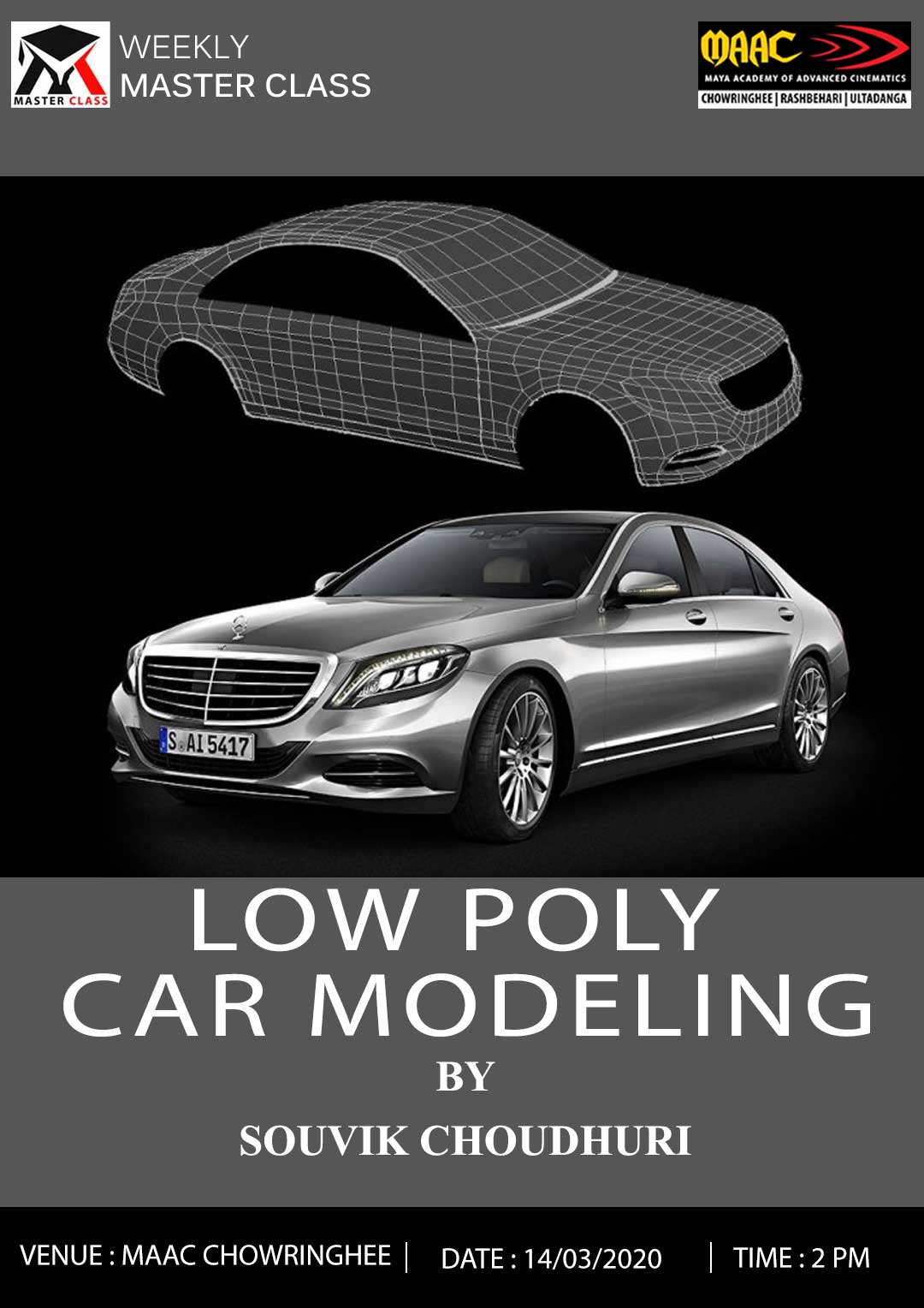 Weekly Master Class on Low Poly Car Modeling