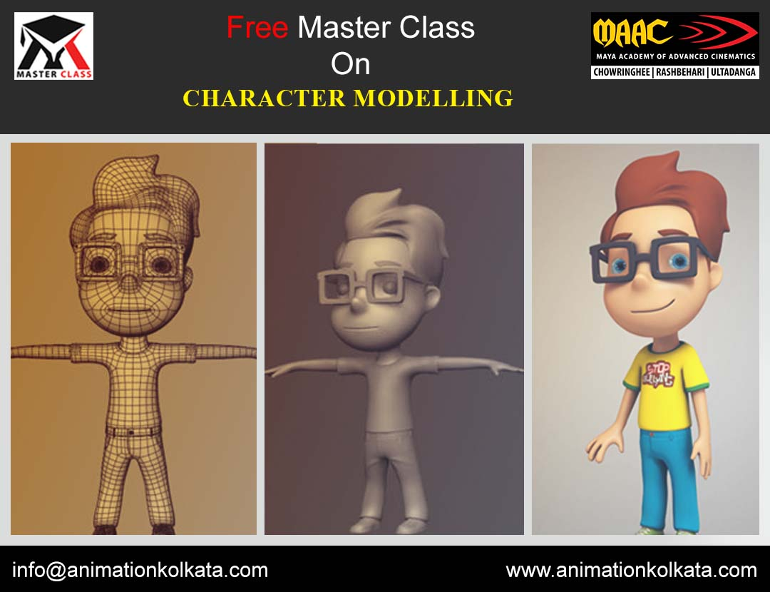 Free Master Class for External Students on Character Modelling @MAAC Kolkata
